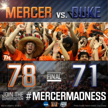 Final Score of Mercer Upset
