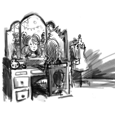 """Shay at The Vanity"" in Trace-ings of an Illustrator"