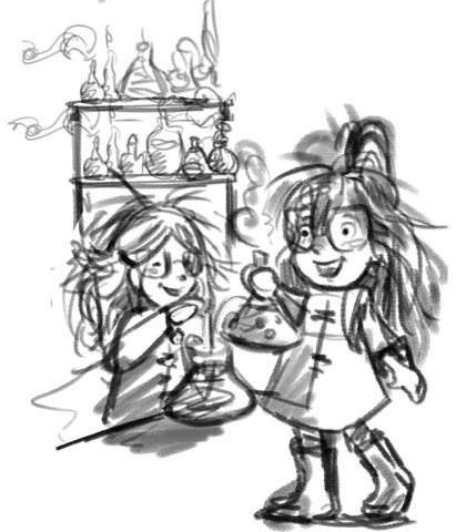 """Shay & Ivy The Scientists"" in Trace-ings of an Illustrator"