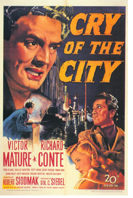 Cry of The City Theatrical Poster