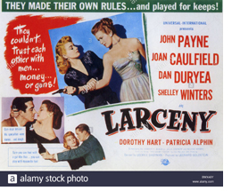 Larceny Theatrical Poster