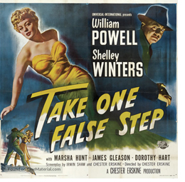 Take One False Step Theatrical Poster