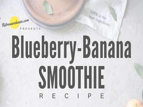 Blueberry Banana Smoothie Recipe_Retrowarehouse_640x480